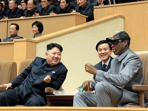 Kim Čong Un a Dennis Rodman