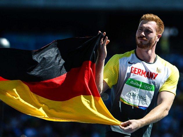 Olympijský vítěz v hodu diskem Christoph Harting.