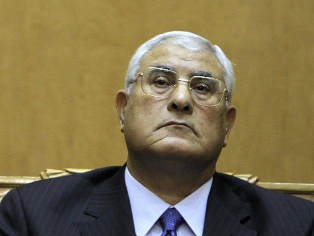 Prozatímní egyptský prezident Adlí Mansúr.