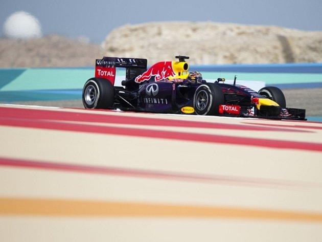 Sebastian Vettel v tréninku na Velkou cenu Bahrajnu.