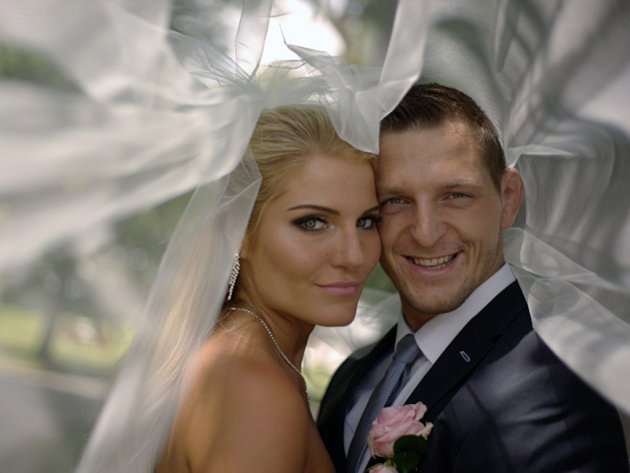 Judista Lukáš Krpálek se oženil s Evou Kaderkovou.