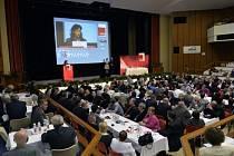 Ministryně práce a sociálních věcí Michaela Marksová Tominová vystoupila 25. dubna na šestém sjezdu Českomoravské konfederace odborových svazů (ČMKOS), který se konal v Praze.
