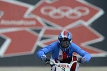 Bikrosařka Romana Labounková na olympijských hrách v Londýně.