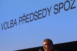 Nově zvolený předseda Strany práv občanů - zemanovci (SPOZ) Zdeněk Štengl hovořil v sobotu 23. března 2013 na sjezdu strany v Praze.