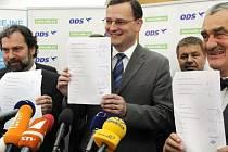 Předsedové Věcí veřejných, ODS a TOP 09. Ilustrační foto