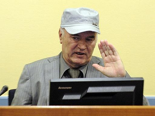 Ratko Mladić před haagským tribunálem
