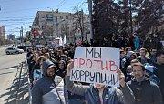 Demonstrace v Čeljabinsku