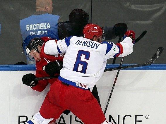 Mattias Seger v zápase proti Rusku