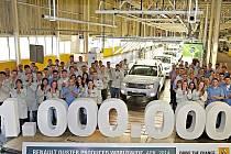 Miliontý Duster byl vyroben v brazilském závodě Renault v Curitibě.