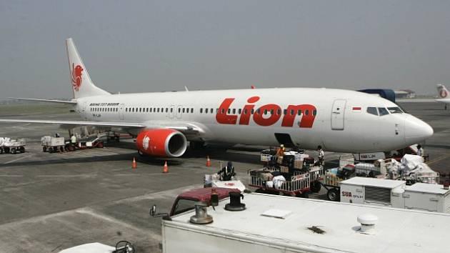 Letadlo indonéské nízkonákladové společnosti Lion Air, které spadlo 29. října 2018 i se 189 lidmi na palibě do moře.