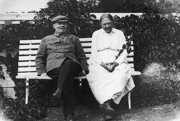 Naděžda s Leninem v roce 1922
