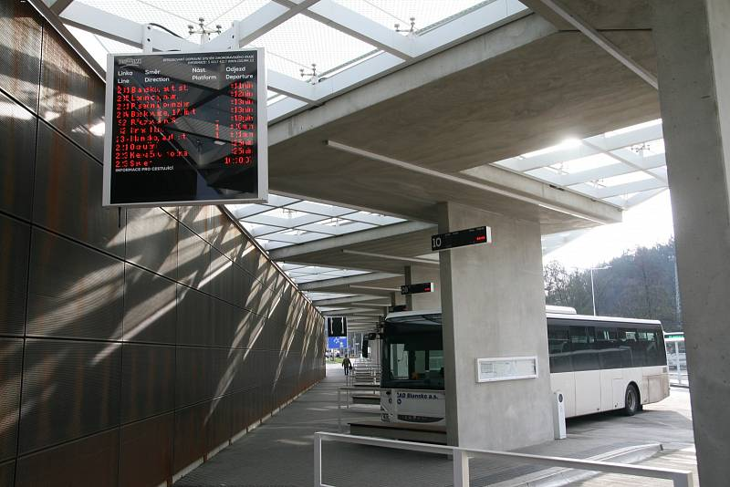 Autobusový terminál v Blansku