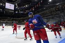 Čeští hokejisté se připravují na začátek MS