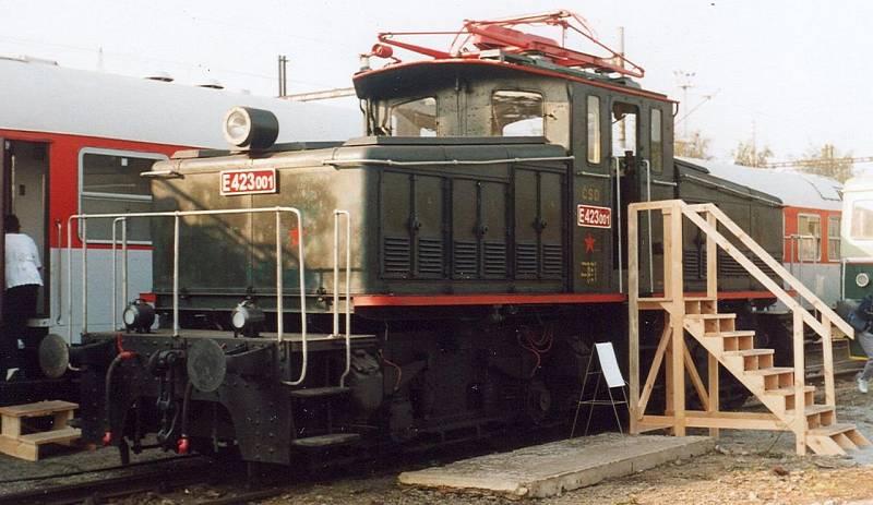 Z Adamovských strojíren pochází i lokomotiva E 423.0 (vyrobeny dva kusy, 1927 a 1928)