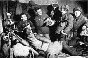 Dobrá nálada mezi ruskými vojáky během bitvy u Stalingradu