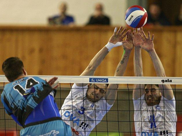 Volejbalový zápas mezi Ostravou a Příbramí (0:3)