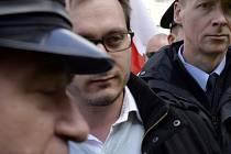 Předseda krajně pravicové Národní demokracie Adam B. Bartoš.