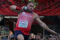 Koulař Tomáš Staněk na mistrovství Evropy v Berlíně.