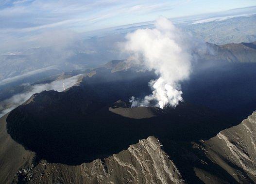 Sopka Galeras v Kolumbii
