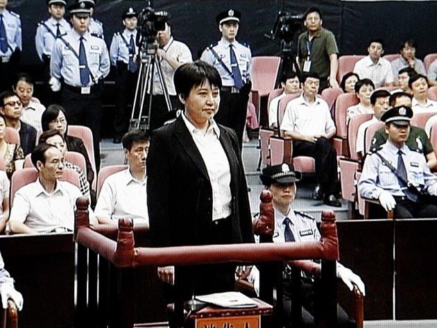 Manželka donedávna vlivného čínského politika Po Si-laje.