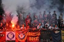 Fanoušci Sparty v pohárovém zápase proti Živanicím.