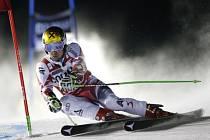 Marcel Hirscher v obřím slalomu SP v Aare.