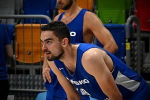 Čeští basketbalisté v přípravě na OH v Tokiu.