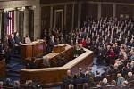 Prezident USA Donald Trump přednesl svůj první projev k oběma komorám Kongresu.
