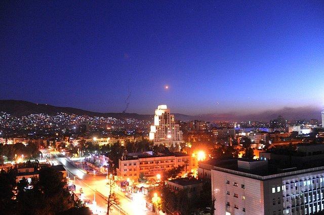 Americký útok v Damašku.