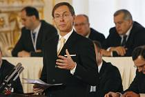 Jan Švejnar při proslovu
