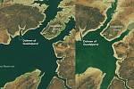 Srovnání satelitních snímků oblasti z roku 2013 a 2019