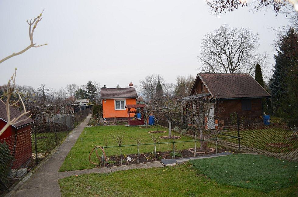 Zahrádkářská kolonie Na Losech v Lounech.