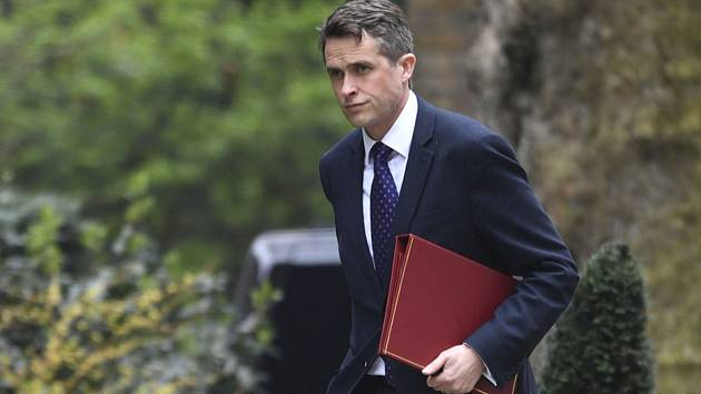 Britský ministr obrany Gavin Williamson.