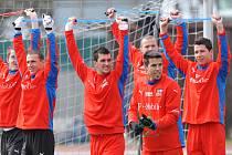 Čeští fotbaloví reprezentanti trénovali před jarním utkáním proti Slovinsku.
