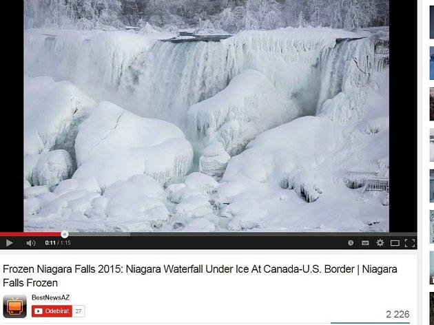 Zamrzly Niagarské vodopády