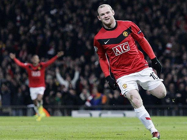 Wayne Rooney v dresu Manchesteru opět úřadoval.