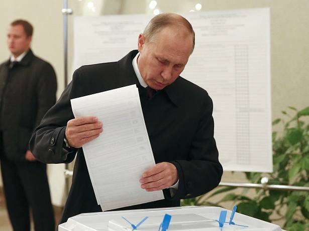 Parlamentní volby v Rusku. Na snímku prezident Vladimir Putin.
