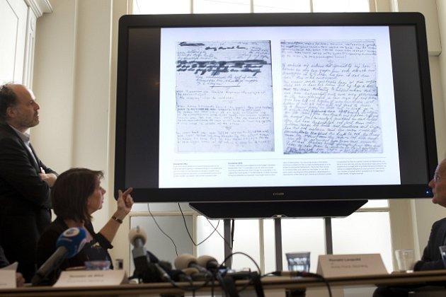 Představení nově rozluštěných stránek deníku Anny Frankové