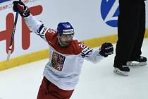 Michal Řepík se raduje z gólu proti USA.