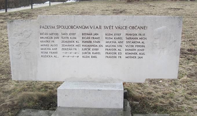 Pomník obětem válek v obci Salaš