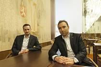 Dříve sportovci, nyní politici. Jakub Janda (vlevo) a Milan Hnilička.