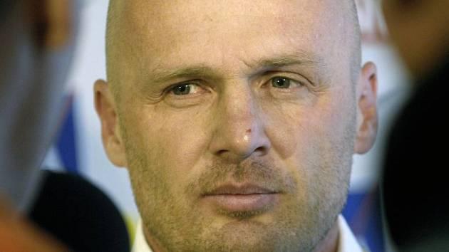 Trenér Sparty Michal Bílek na tiskové konferenci před zahájením jarní části sezony.