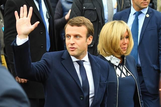 Emmanuel Macron se svou ženou Brigitte