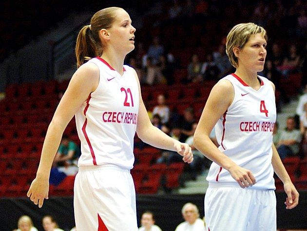 Alena Hanušová (vlevo) s oporou Janou Veselou.