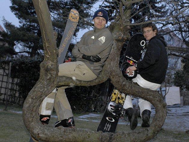 Tomáš Kraus (vlevo) a Michal Novotný se už těší na olympijské hry ve Vancouveru.