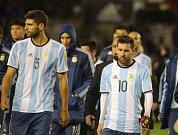 Argentinská reprezentace. Federico Fazio a Lionel Messi
