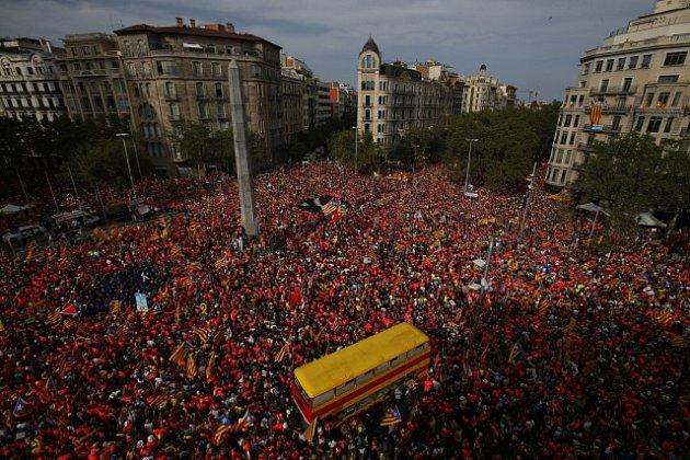 Milion Katalánců v ulicích Barcelony volal po nezávislosti.