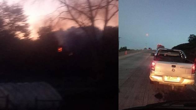 """Záběry tajemných """"ohnivých koulí"""" zachycených nad Chile"""