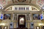 Vstup do poslanecké sněmovny španělského parlamentu, kam 23. února 1981 vtrhli ozbrojenci