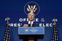 Zvolený prezident USA Joe Biden, 9. listopadu 2020 ve Wilmingtonu